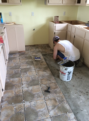 Habitat-For-Humanity cleaning tile