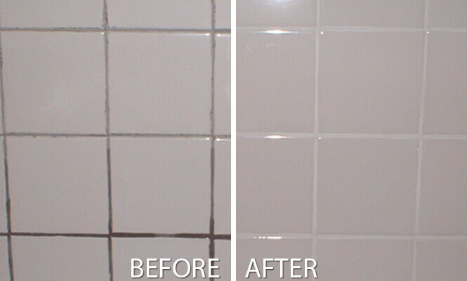 Bathroom Grout Cleaning Before After