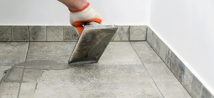 grout tile floor