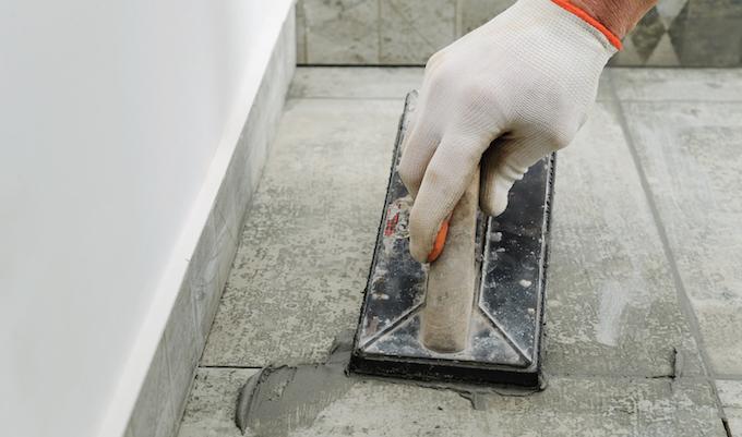 man tile regrouting floor