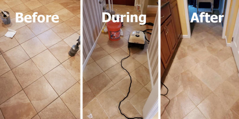 grout cleaning and sealing by The Grout Medic