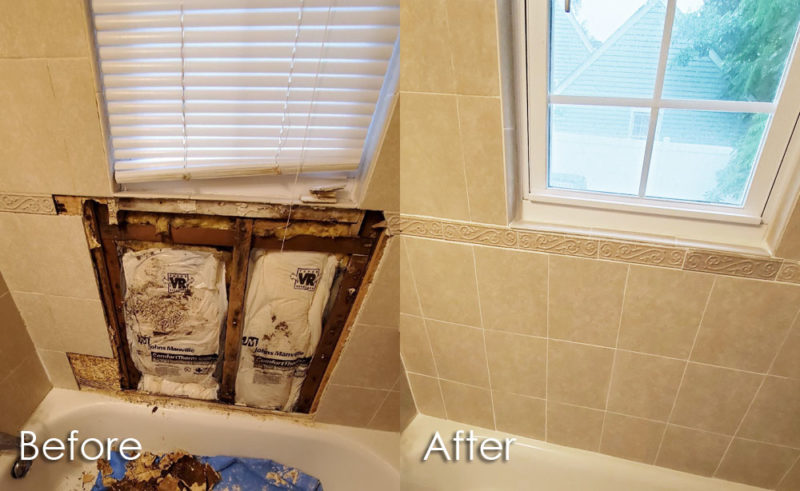 tile water damage repair by the grout medic