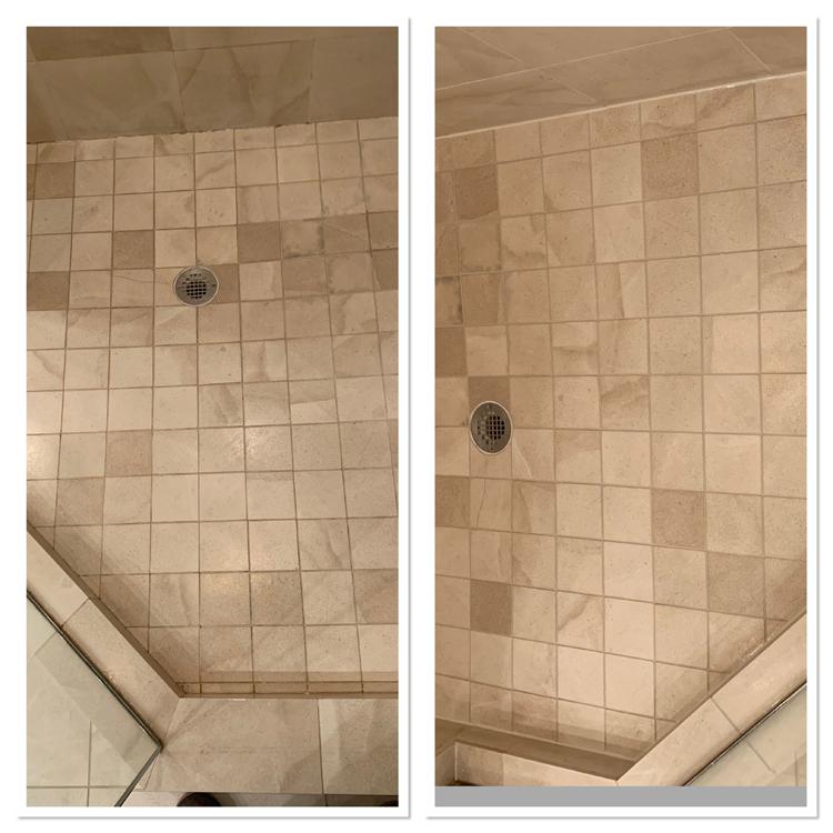 shower re-caulking