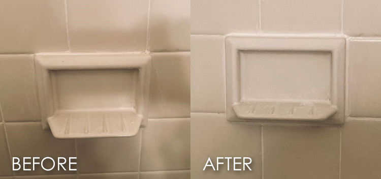 shower and tub grout repair