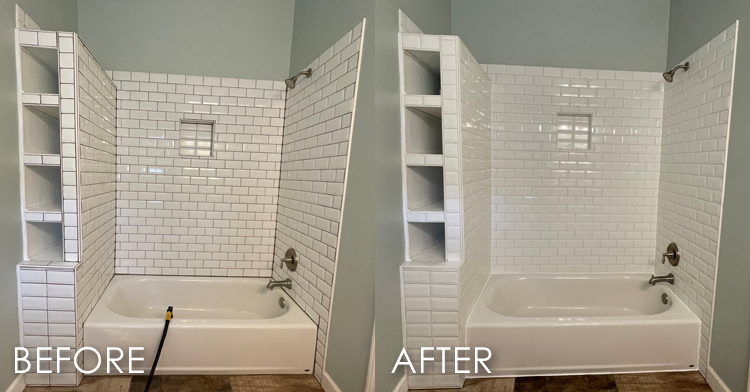 grout color changing with grout color sealing