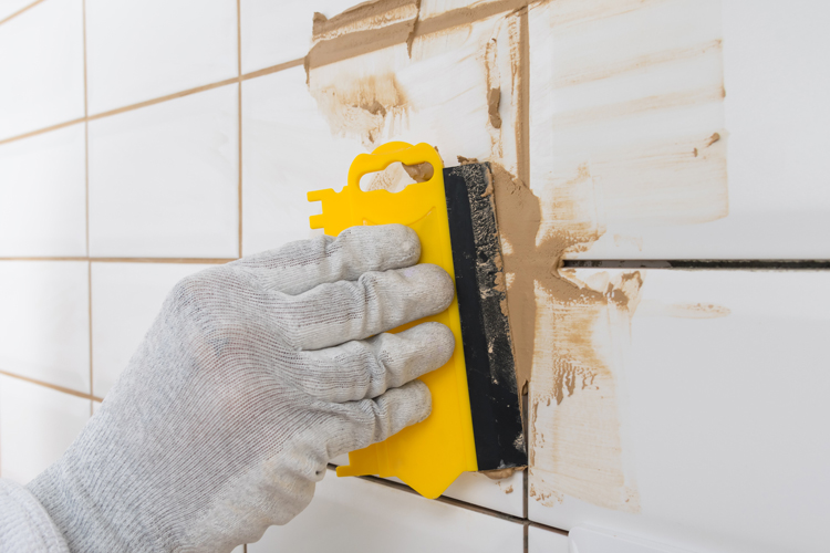 Don't wait too long to wipte grout.